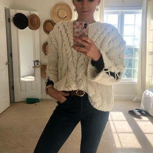 Chunky cream oversized Zara knit